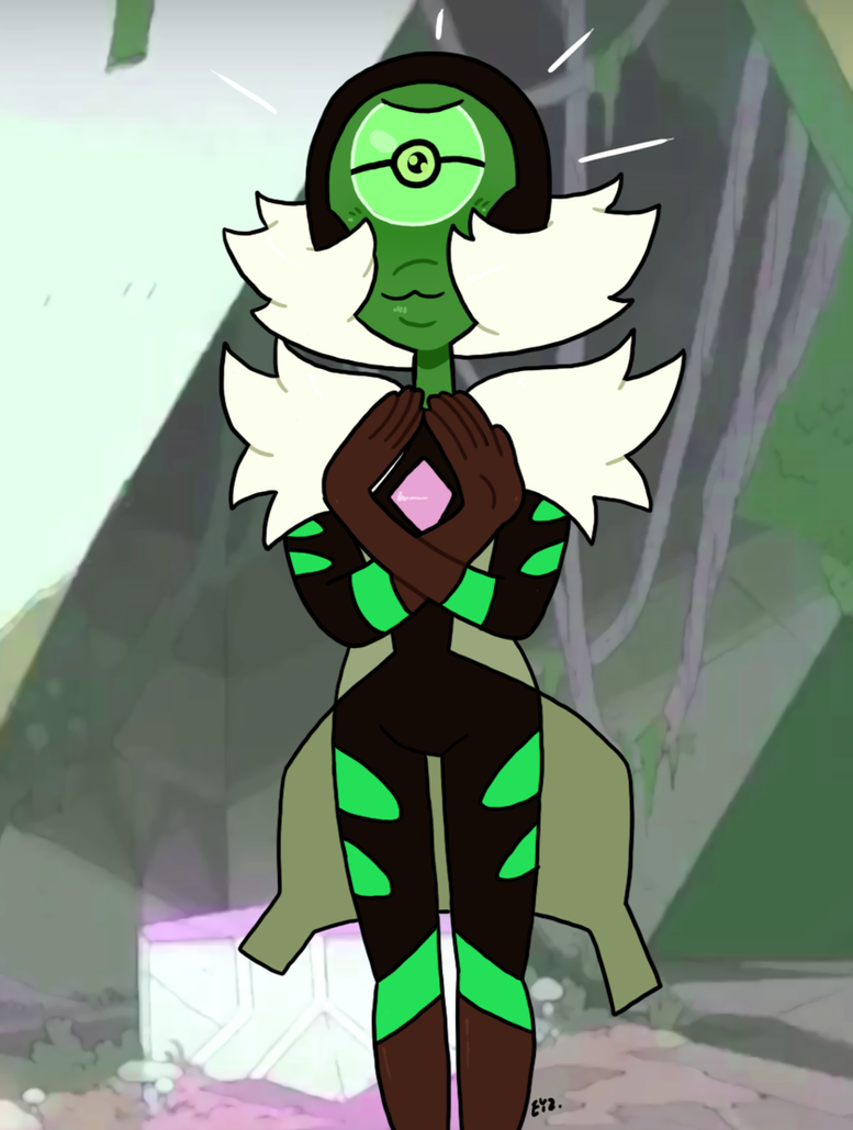 #spoileralert So we've finally seen the uncorrupted Centipeetle, who's really Nephrite. She still looks a bit odd, but she's also a cutie with a big eye-gem. Open for commissions! Guidlines: theeyz...