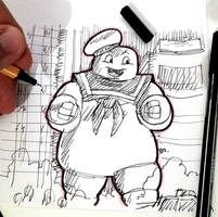DSC 2018-10-08 The Stay Puft Marshmallow Man by theEyZmaster