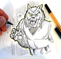 DSC 2019-07-18 Man-Wolf by theEyZmaster