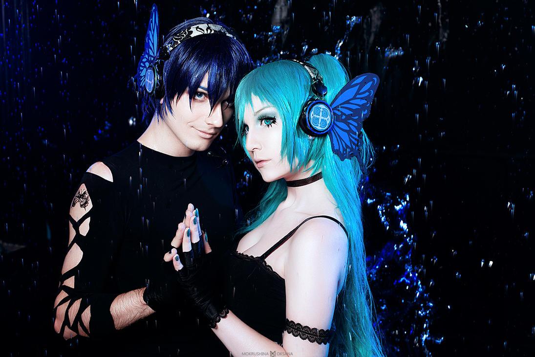 Vocaloid Magnet Kaito and Miku by mokrushina
