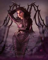 Queen of Blades by asaavedraart