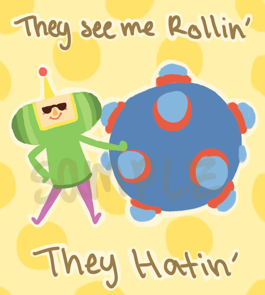 They Hatin' Mini Print by SketchaMagic