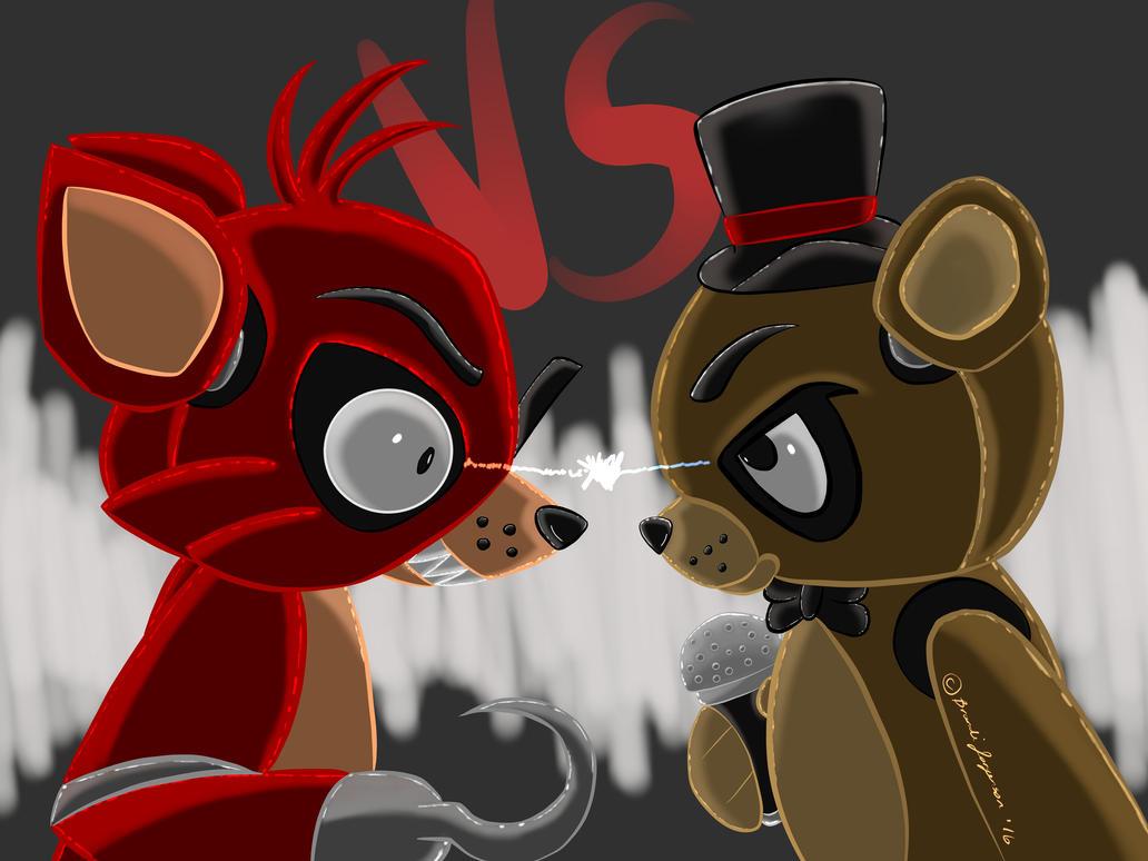 Freddy VS. Foxy by Shadow-Dragon91