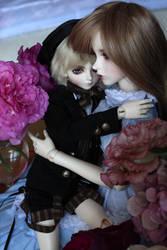 Among roses by burntumber
