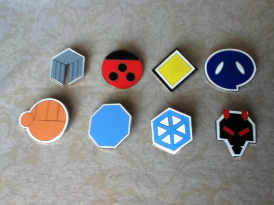 Johto gym badges by Daratum