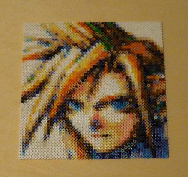 Cloud Strife Portrait Bead Sprite by monochrome-GS