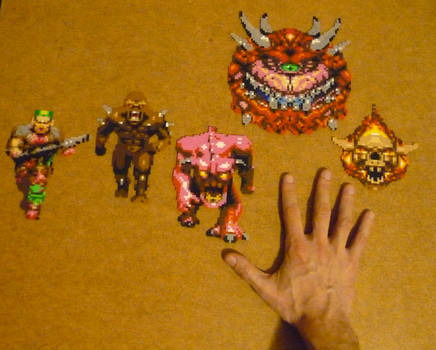 DOOM Mini Perler collection