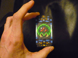 Super Metroid Capsule Mini Perler