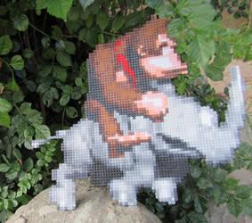 Donkey Kong and Rambi - Artkal n Perler minibeads