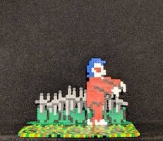 Ghosts n Goblins (NES) mini bead zombie standee