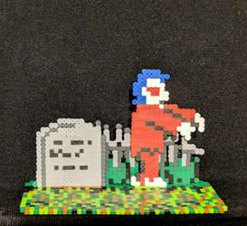 Ghosts n Goblins (NES) minibead tombstone n zombie