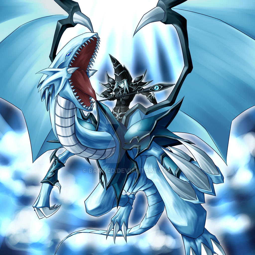 blue eyes dragon magician artwork by batmed on deviantart
