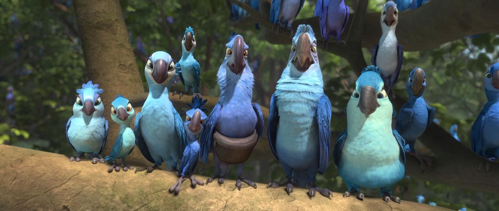 spix macaw tribe by BestRioLover