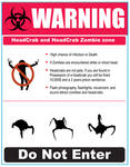 Headcrab warning sign