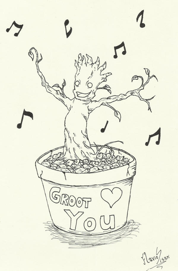 Dancing baby groot by mrsisan on deviantart for Groot coloring pages