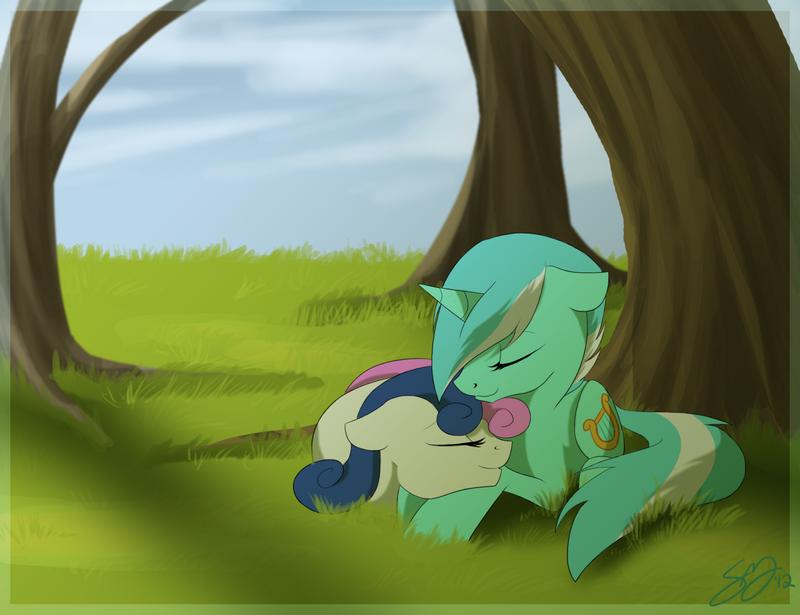 Lyra and Bon Bon by Famosity
