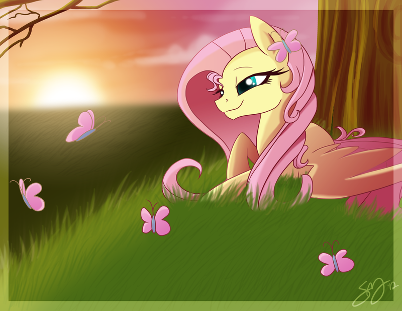 Fluttershy by Famosity