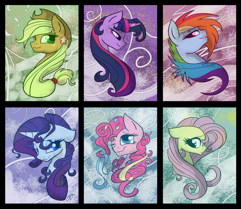 Mane Six Portraits by Famosity