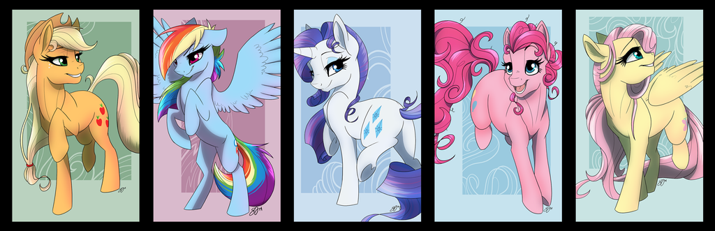 Rest of Mane 6 prints by Famosity