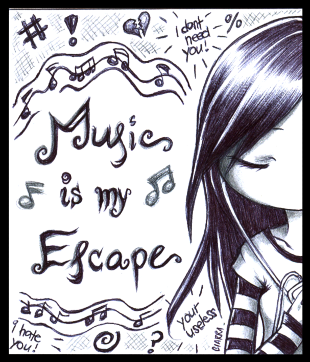 : Music is my Escape : by F-AYN-T