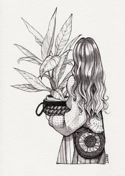 Inktober - Leaves