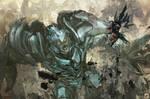 Black Rock Shooter vs Megatron.