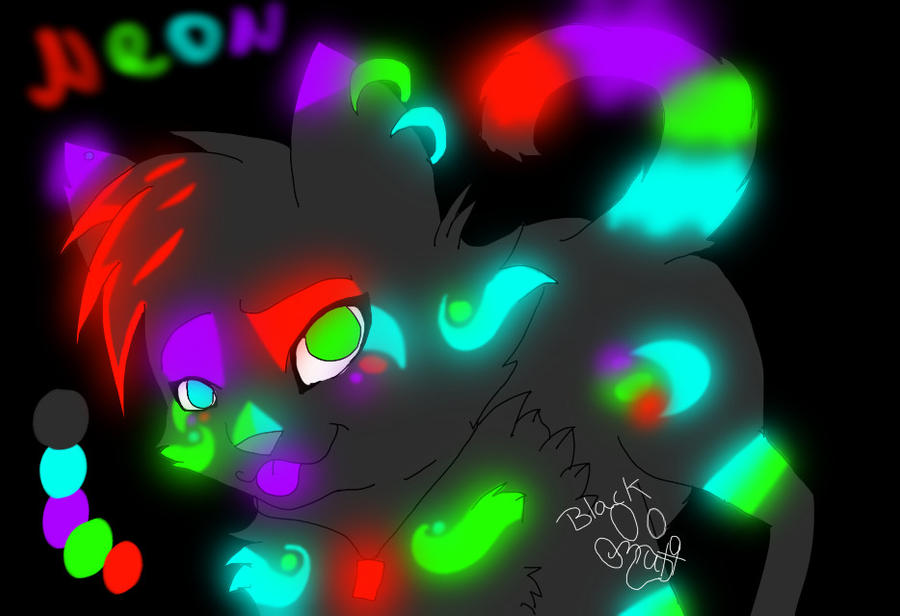NEON my new OC by blackmuttofdoom