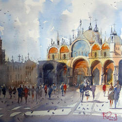 Venice St Marco Watercolour