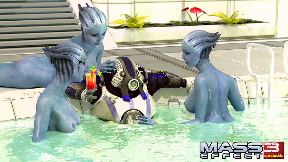 Volus and Asari Consorts or Barla Von on Holiday by aquaTICKworld