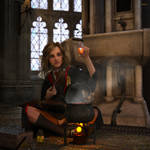 Hermione mixing potions (updated 1) by aquaTICKworld