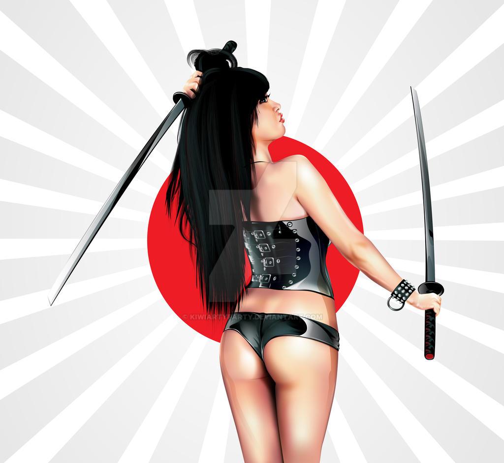 Sexy Samurai by KiwiArtyFarty