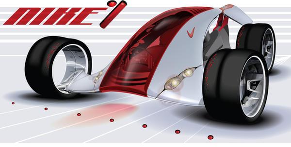 Nike One Concept Car by KiwiArtyFarty