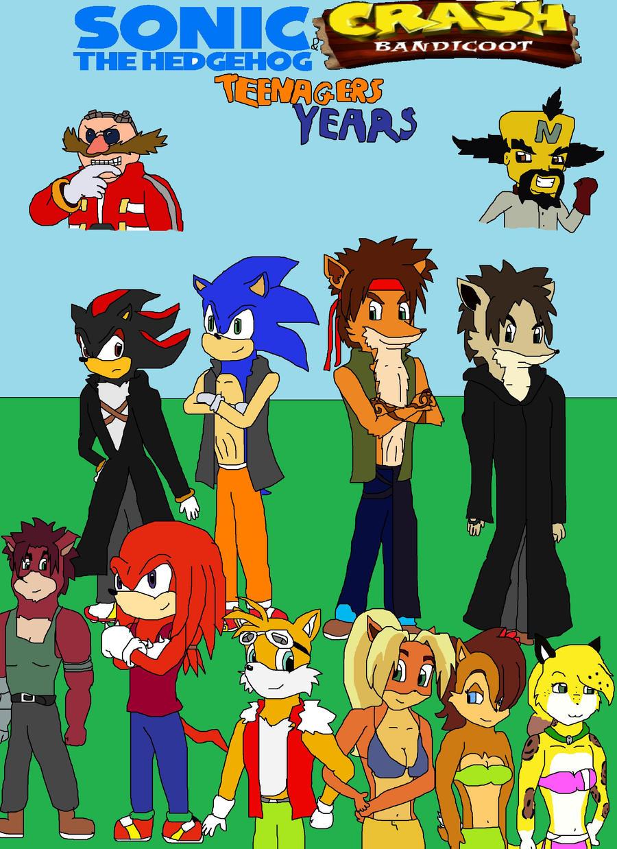 Sonic and Crash Teenager Years by SuperSaiyanCrash on