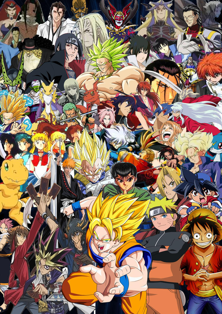 Anime Characters A Z : Anime all stars by supersaiyancrash on deviantart