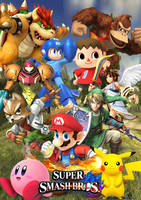 Super Smash Bros 4 cover by SuperSaiyanCrash