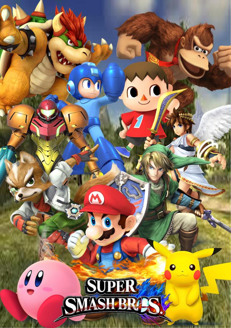 Top Wallpaper Logo Super Smash Bro - super_smash_bros_4_cover_by_supersaiyancrash-d68pau8  HD_98288.jpg