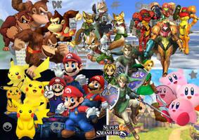 Super Smash Bros Stars Tribute by SuperSaiyanCrash