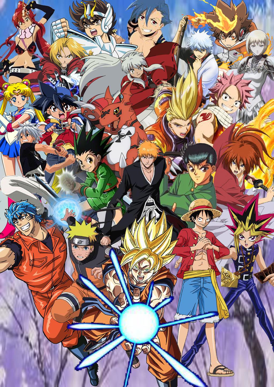 Anime And Shonen Jump Protagonists By SuperSaiyanCrash