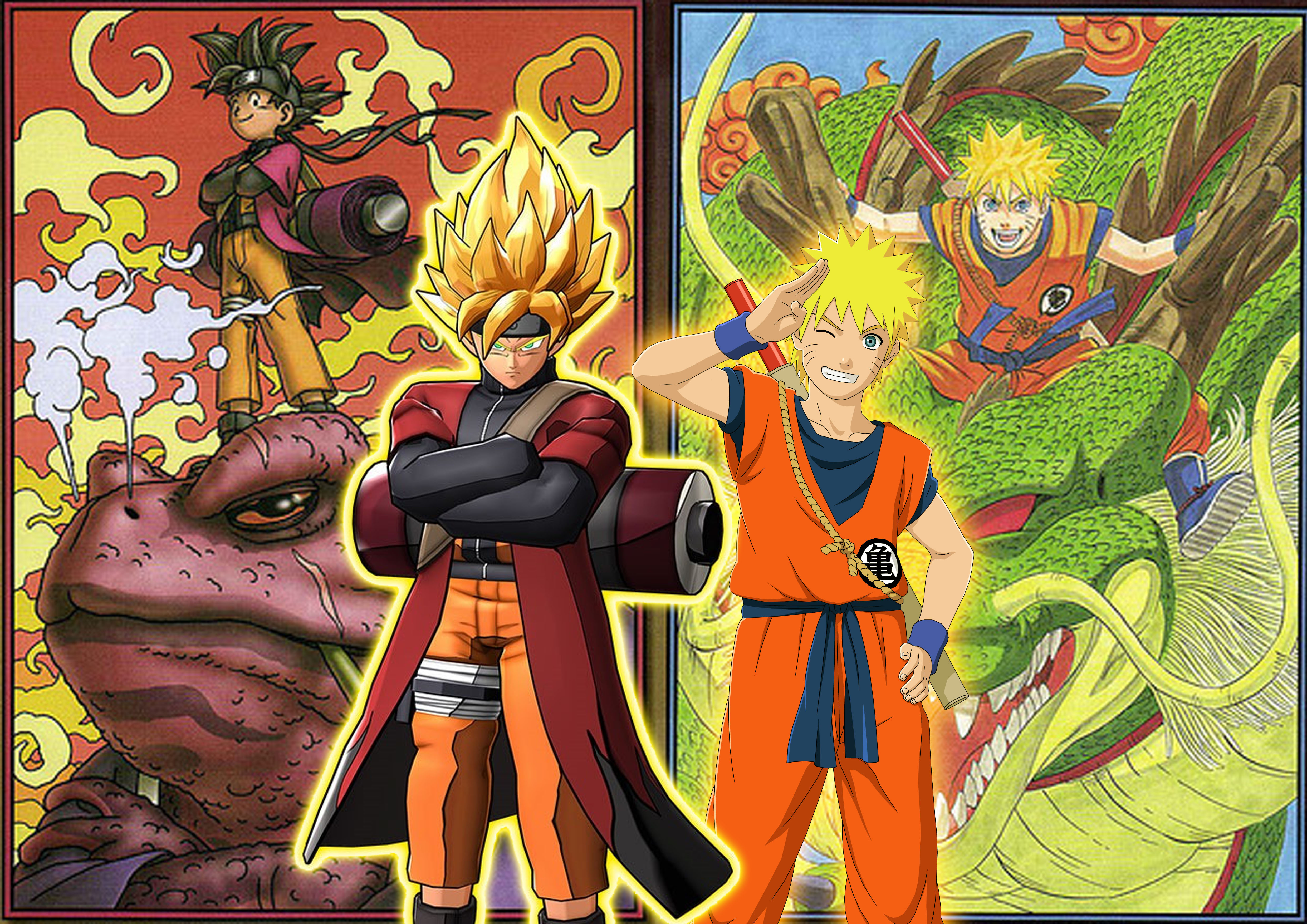 Dragon Ball Z X Naruto Shippuden DLC by SuperSaiyanCrashNaruto Vs Avatar Vs Dragon Ball Z