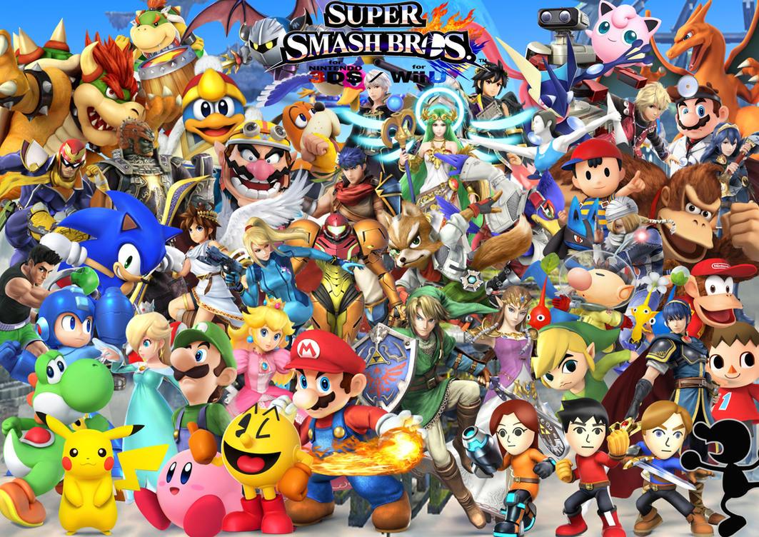 Smash Bros Wii U : Super smash bros wii u ds characters by supersaiyancrash