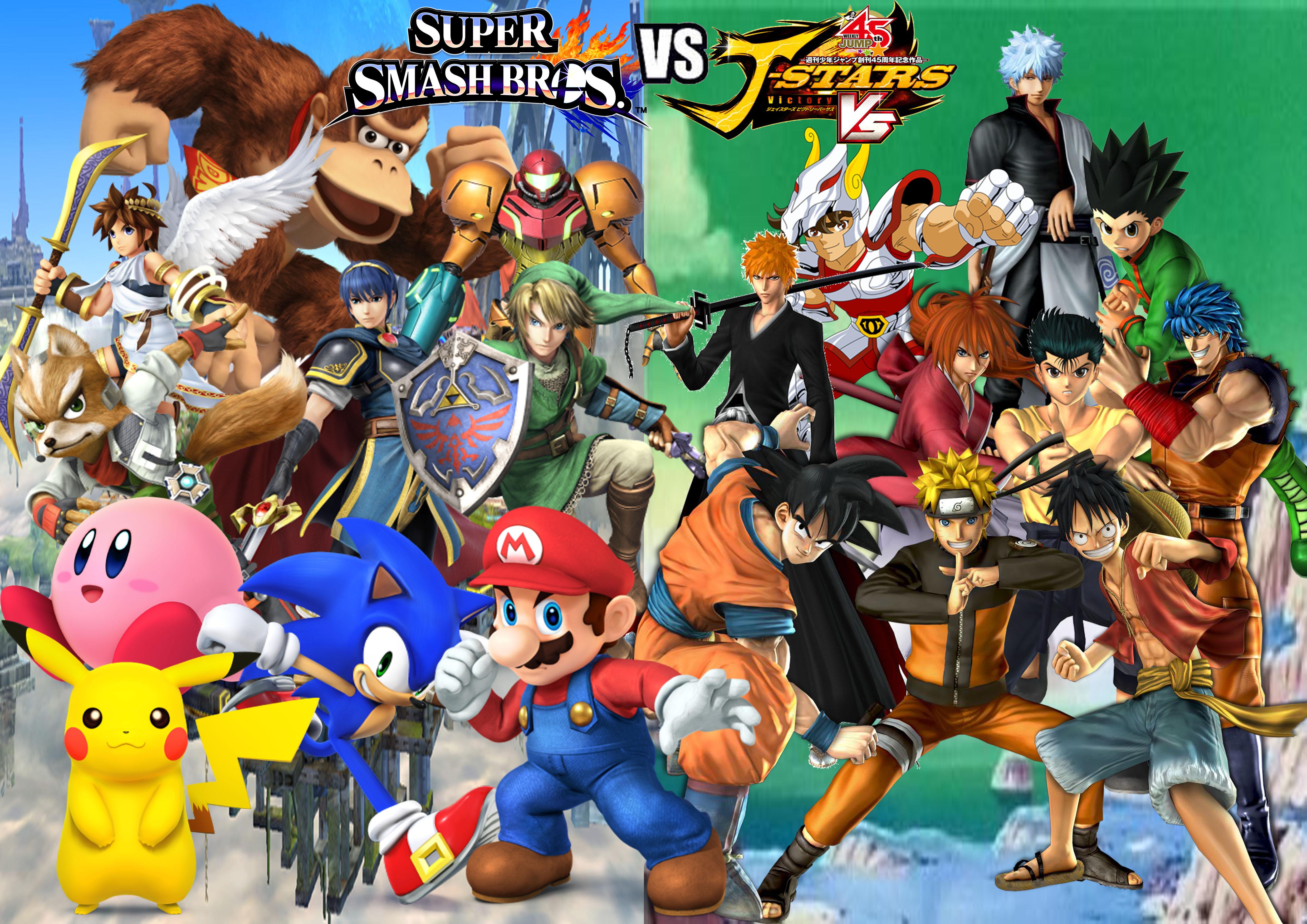 Anime Characters For Smash : Super smash bros vs j stars victory by supersaiyancrash