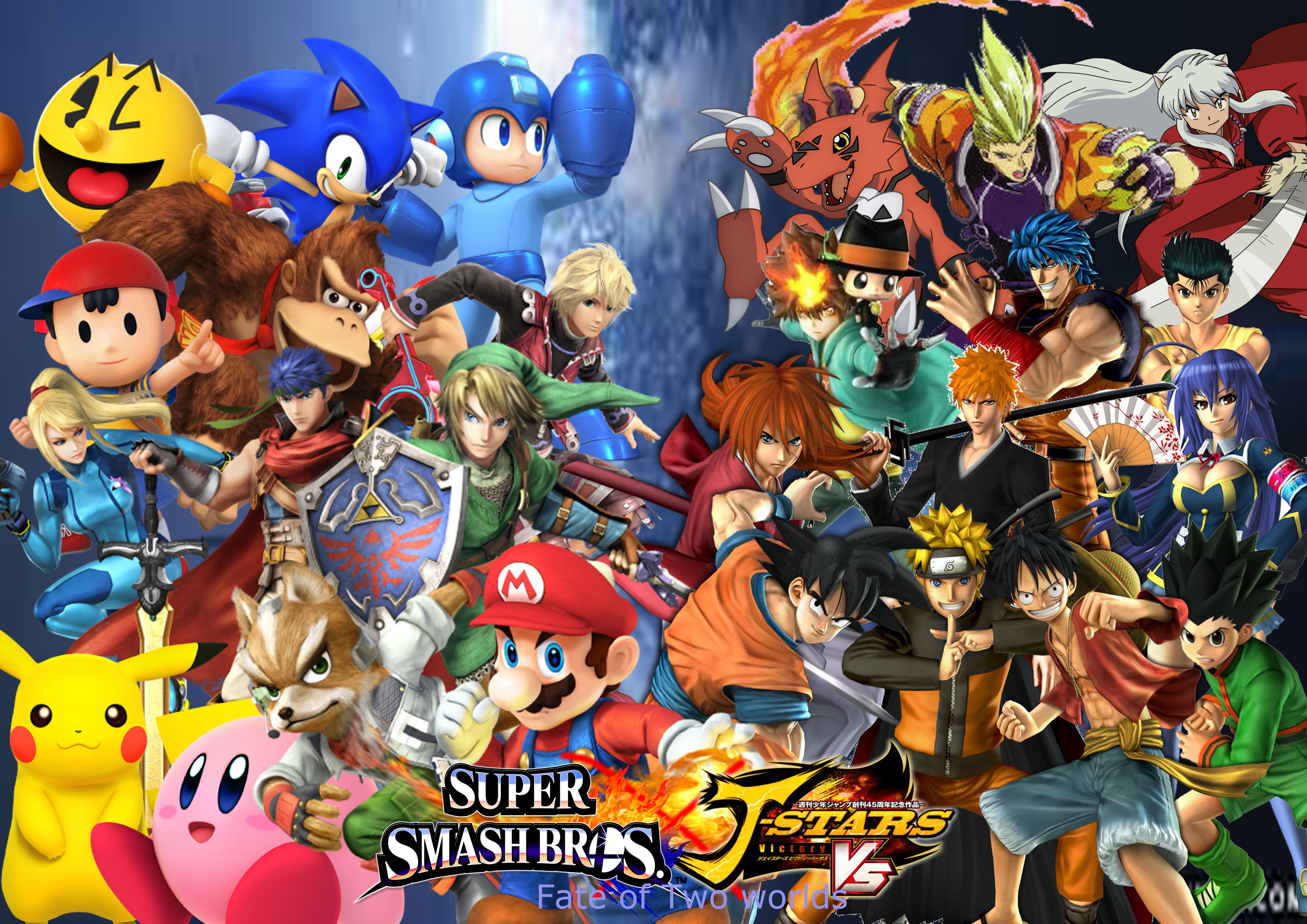 super smash bros x j stars fate of two worlds by
