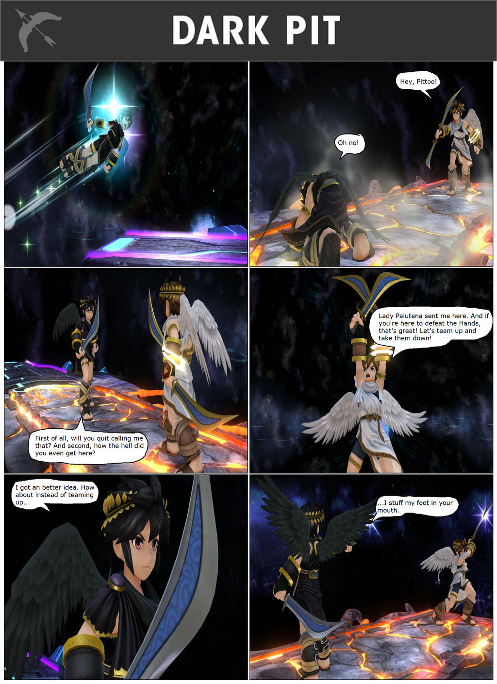 SSBFYR: Dark Pit by SuperSaiyanCrash on DeviantArt Marth Final Smash