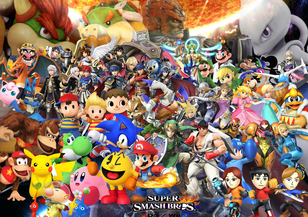 Super smash bros wii u and 3ds characters with dlc by supersaiyancrash on deviantart - Console wii u super smash bros ...