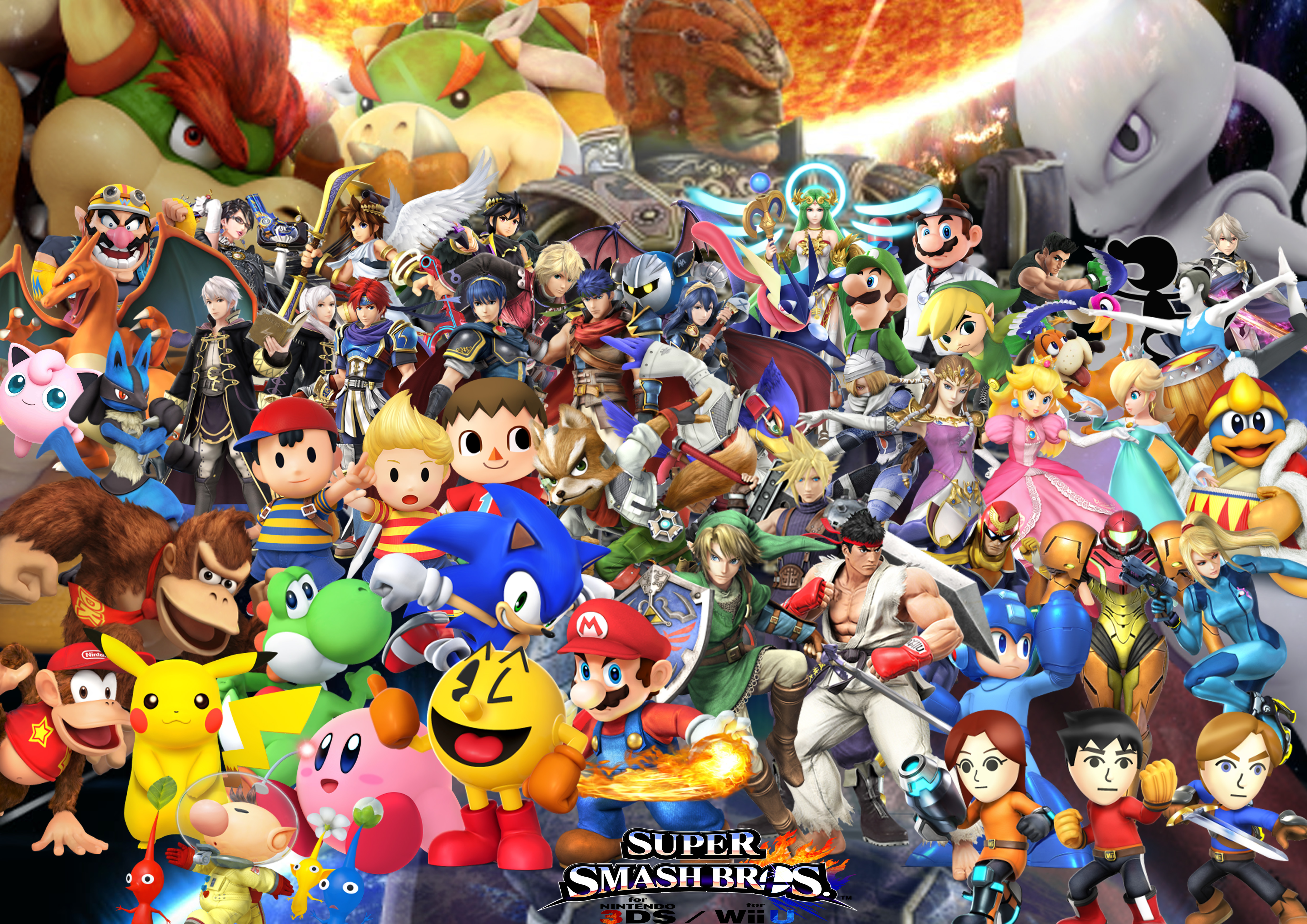 Anime Characters For Smash : Super smash bros wii u and ds characters with dlc by