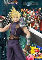 Super Smash Bros newcomer FFVII Cloud by SuperSaiyanCrash