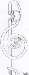Pr. Layton's keyblade - vertion sans couleur by piro-tails