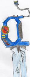 Megaman's keyblade - RockSaber by piro-tails