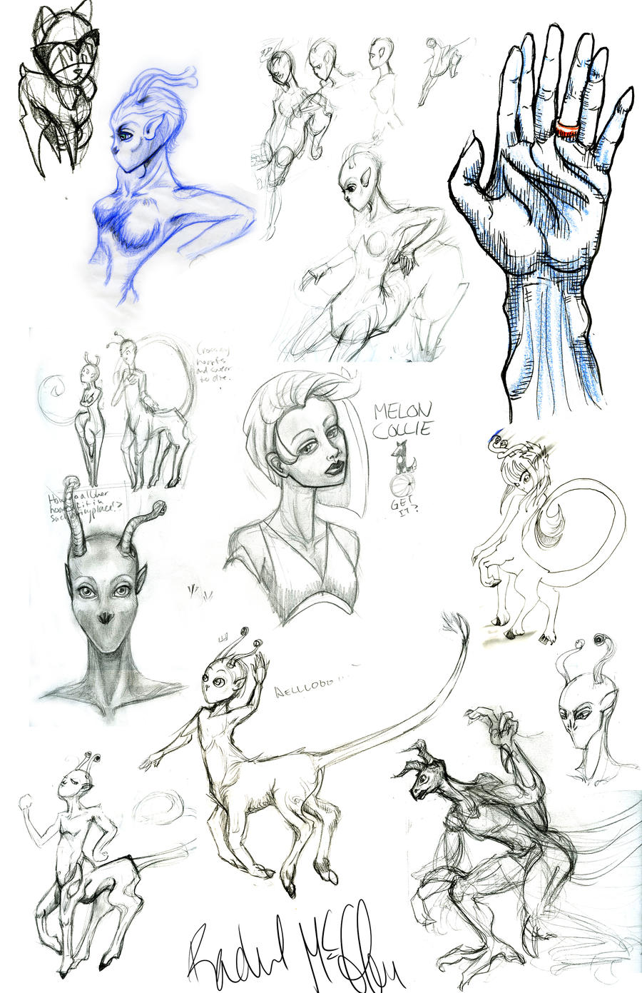 Andalite Sketch Dump by racehell