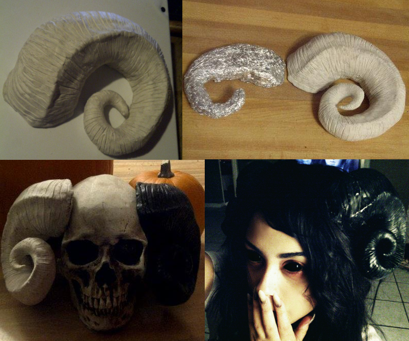 how to make ram horns cosplay